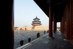 Temple merveilleux et stupéfiant de Pékin - le temple du Ciel dans Beiji photos libres de droits