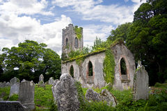 Temple Michael Church Irealnd. Ruins of Temple Michael near the Ballynatray House Estate, Youghal, county Cork. Ireland Royalty Free Stock Photos
