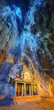 Temple in the middle of a cavern at Batu Caves Temple complex in Kuala Lumpur Royalty Free Stock Photos