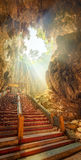 Temple in the middle of a cavern at Batu Caves Temple complex in Kuala Lumpur Royalty Free Stock Photo