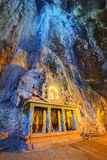Temple in the middle of a cavern at Batu Caves Temple complex in Kuala Lumpur Stock Images