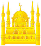 Temple with minarets stock illustration