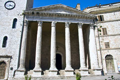 Temple of Minerva in Assisi Royalty Free Stock Photography