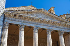 Temple of Minerva. Assisi. Umbria. Italy. Stock Image