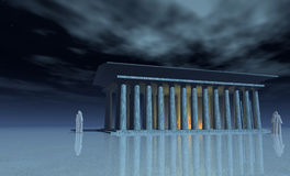 The temple mists Royalty Free Stock Images