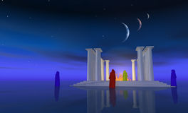 The temple mists Royalty Free Stock Photo