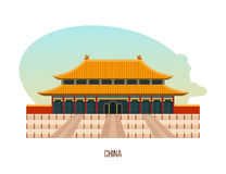 Temple-monastery complex in beijing is building of temple of heaven. Royalty Free Stock Image