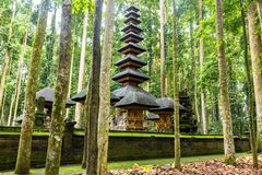 A temple in the Monkey forest. Bali, Indonesia royalty free stock photos
