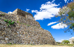 Temple of Monte Alban Archaeological site Oaxaca M. Temple of archaeological site of Monte Alban, Oaxaca State, Mexico Royalty Free Stock Images