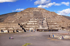 Temple of Moon Pyramid Teotihuacan Mexico City Mexico Stock Image