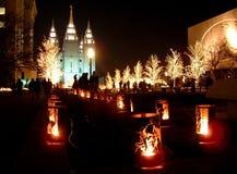 Temple mormon photo libre de droits