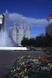 Temple mormon de LDS à Salt Lake City, Utah photographie stock libre de droits