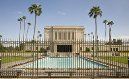 temple mormon de MESA de l'Arizona Photographie stock libre de droits