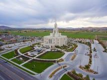 Temple mormon de Payson Utah image stock