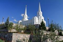 Temple mormon de ville de Brigham photo libre de droits