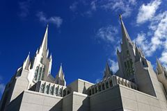 Temple of Mormons in San Diego. Temple of Mormons in San Diego, California Stock Photo