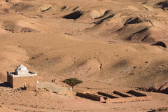 Temple in moroccan rock desert Stock Photos