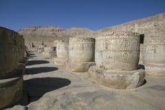 Temple mortuaire de Ramses 3 dans Medinet Habu image stock