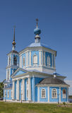 Temple of the Mother of God of Jerusalem in the White town of Tver Region Royalty Free Stock Photography