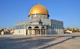 Temple Mount, купол стоковая фотография rf