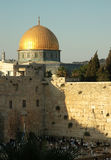 Temple Mount. Dome of the Rock and Western Wall, Jerusalem Stock Image