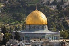 Купол утеса на Temple Mount в Иерусалиме, Израиле стоковая фотография rf