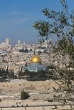 Купол утеса на Temple Mount в Иерусалиме, Израиле стоковое фото rf