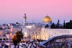 Jerusalem. Dome of the Rock and Western Wall in Jerusalem, Israel Royalty Free Stock Photo