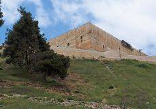 Temple Mount above the Kidron Valley in Jerusalem Stock Image