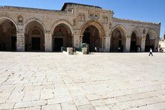 Temple Mount and Al-Aqsa Mosque in Jerusalem Israel Stock Image