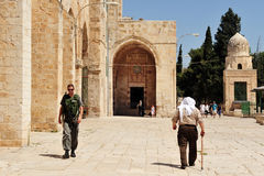 Temple Mount and Al-Aqsa Mosque in Jerusalem Israel royalty free stock image