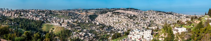 The Temple Mount, also know as Mount Moriah in Jerusalem, Israel Royalty Free Stock Photos