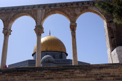 Temple Mount, Dome of the Rock. The Golden Dome of the Rock, Jerusalem,Israel royalty free stock image