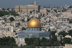 Temple Mount, Dome of the Rock Royalty Free Stock Photos