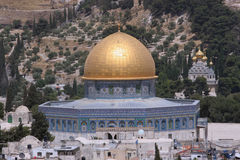 Temple Mount, Dome of the Rock. The Golden Dome of the Rock, Jerusalem,Israel stock images