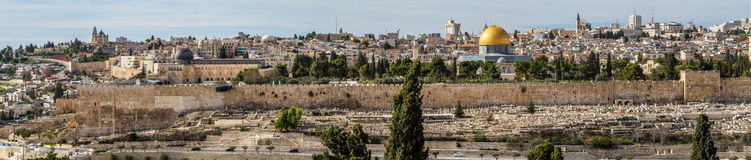 Temple Mount, Dome of the Rock and Al Aqsa Mosque in Jerusalem, Israel Royalty Free Stock Photos