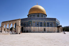 Temple Mount and Dome of the Rock in Jerusalem Israel Royalty Free Stock Photo