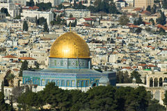 The Temple Mount in Jerusalem. Royalty Free Stock Photos
