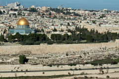 The Temple Mount in Jerusalem. Royalty Free Stock Images