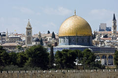 Temple mount in Jerusalem Stock Photos