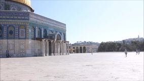 Temple Mount in Jerusalem and the Dome of the Rock stock video footage