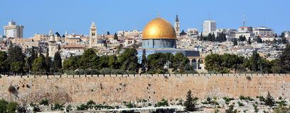 Temple Mount. JERUSALEM ISRAEL 23 10 16: Temple Mount known as the the Noble Sanctuary of Jerusalem located in the Old City of Jerusalem, is one of the most Royalty Free Stock Images