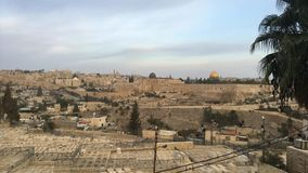 Temple Mount Jerusalem, Israel sunrise timelapse. Timelapse of the sunrise at Temple Mount in Jerusalem, Israel stock video