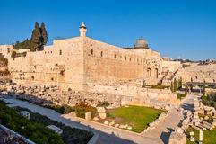 Temple mount in Jerusalem Royalty Free Stock Images