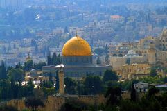 The Temple Mount, known to Muslims as the Haram esh-Sharif. Is a hill located in the Old City of Jerusalem that for thousands of years has been venerated as a Stock Photography