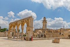 Temple Mount old architecture Jerusalem Royalty Free Stock Images