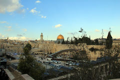 Temple Mount in the old city of Jerusalem Stock Photo