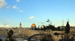 Temple Mount in the old city of Jerusalem Stock Image
