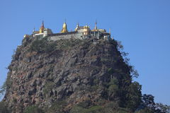 The temple of Mount Popa in Myanmar Royalty Free Stock Photography