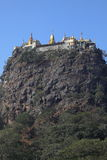 The temple of Mount Popa in Myanmar Stock Photo